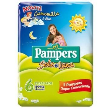 PAMPERS SOLE&LUNA FLASH XL 14P