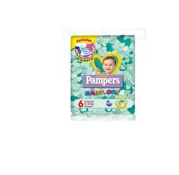 PAMPERS BABY DRY XL 38PZ
