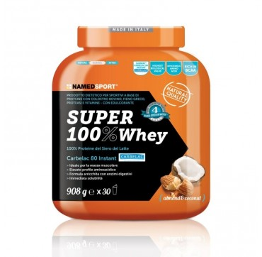Named SUPER 100% Whey ALMOND&COCONUT