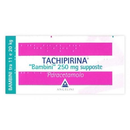 TACHIPIRINA*BB 10SUPP 250MG