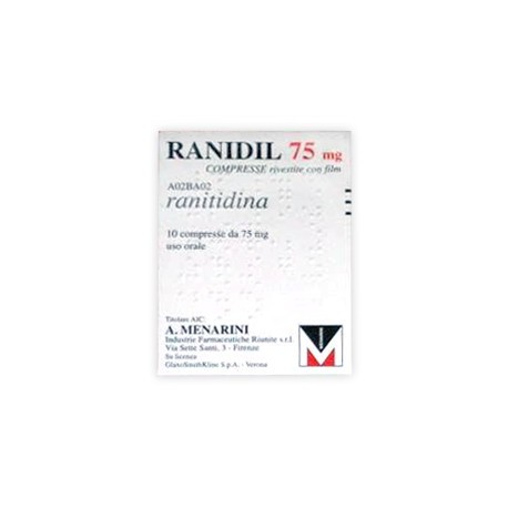 RANIDIL 75*10CPR RIV 75MG
