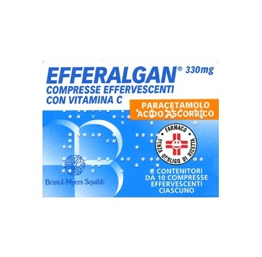 EFFERALGAN*20CPR EFF 330+200MG